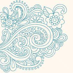 paisley tattoo | paisley tattoo. Henna Tattoo Paisley Doodle