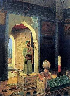 Dervish in the Children's Tomb (1908) by Osman Hamdi Bey