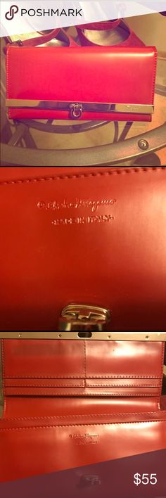 Feragamo wallet I got the wallet on here and don't see myself using it. I am not sure about the authenticity. Ferragamo Bags Wallets