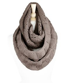 Look what I found on #zulily! Taupe Cable Knit infinity Scarf by TROO #zulilyfinds