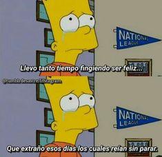 LUCÍA MÉNDEZ 😐◼ I Am Sad, Sad Love, Simpsons Frases, Anxiety Thoughts, Ex Amor, Sad Pictures, True Feelings, The Simpsons, How I Feel