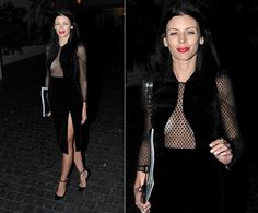 Rupert Sanders, eat your heart out. Raven-haired beauty Liberty Ross showed her ex-husband exactly what he's missing in this fearless number, which she boldly wore to a W magazine party at the famous Chateau Marmont in Hollywood on Jan. 9, 2014.