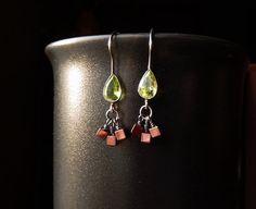 Sterling Silver Peridot Quartz Copper Hematite by TheJewelsILove
