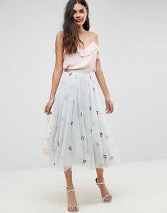 e6a2483d03 Get this Asos s knee skirt now! Click for more details. Worldwide shipping.  ASOS · Falda Midi De ...