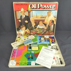 Vintage Oil Power Board Game 1982 Antfamco 4402 Complete for sale online Cosmic Encounter, Door Games, Vintage Board Games, Old Things, Things To Sell, Games Box, Donkey Kong, Game Pieces, Love Is All