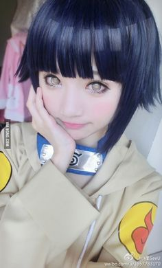 Cosplay: Hinata from Naruto Those eyes are so. Stinkin. Cool.