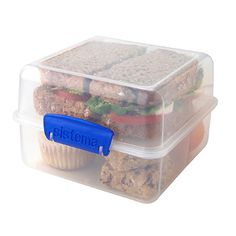 Klip It Lunch Cube in lunch box and containers at Lakeland Lunch Box Containers, Lunch Boxes, Dark Home Decor, Prepped Lunches, Household Items, Kitchen Accessories, Cube, Crafts For Kids, Decorative Boxes