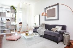 Deepica Mutual's redesigned living space is just as ab fab as her! We love this look here at HP.