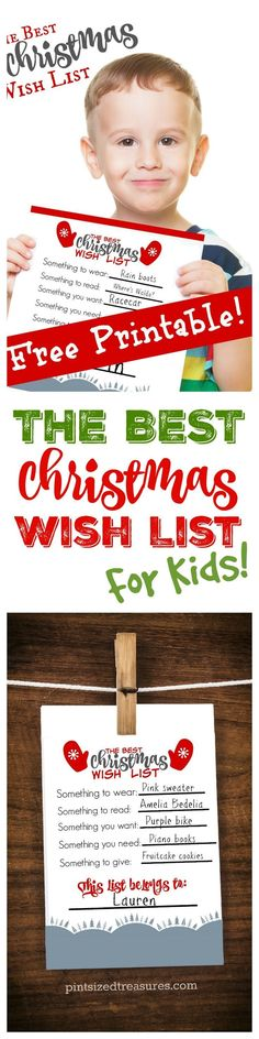 Attention Parents! Your kids NEED this Christmas wish list for the holidays! It's free, printable and promotes thoughtfulness and GIVING!