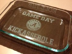 Alabama GAMEDAY Kickasserole Dish by UnCorkdArt on Etsy, $25.00