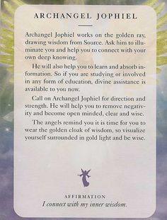 """∆ Archangel Jophiel...""""Archangel Jophiel""""  -  Angel Card – Diana Cooper"""