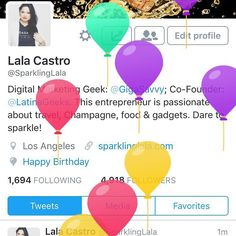 Thank you @Twitter for the birthday balloons! So cuuuuuute! #lalatime #birthdaygirl