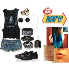 If I was ever going to warped tour, I would probably wear something like this