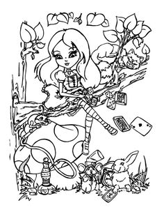 Coloring Pages Alice In Wonderland By JadeDragonne On DeviantArt