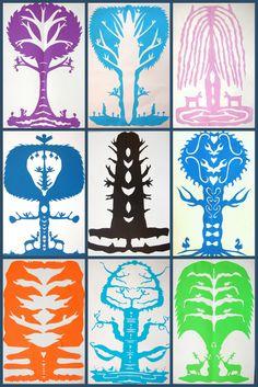 The New Hope Art Gallery: Middle School Art: Polish Leluja Paper Cuttings