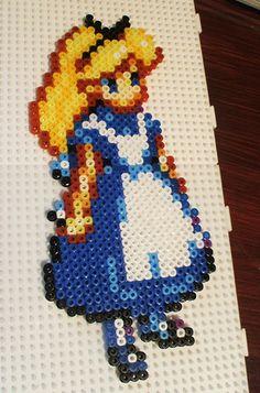 Alice in Wonderland perler bead sprite by applebombs