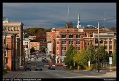 Downtown Bangor Maine | Picture/Photo: State Street and downtown. Bangor, Maine, USA
