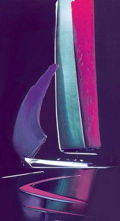 Moonlit Sails II by Duncan Macgregor.  Glass edition