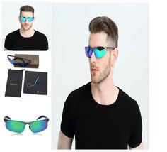 Men's HD Polarized Sunglasses for Driving Fishing Sports Metal Frame SUNGAIT NEW #SUNGAIT #mens