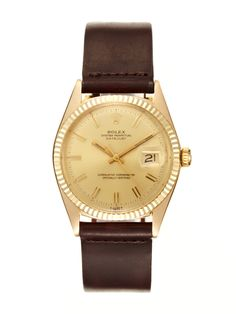 Rolex 18K Yellow Gold Oyster Perpetual Datejust (c. 1968-1969)  --  Holy shit. This is beautiful.  --  $4900