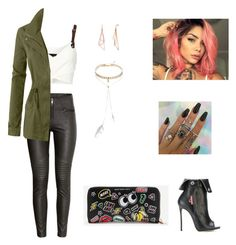 """""""rock"""" by rosy-costa-rc on Polyvore featuring H&M, Barbara Bui, Dsquared2, Bølo and LE3NO"""