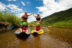 Stand Up Paddleboarding on the Roaring Fork River in Aspen.  Perfect on a hot summer day!