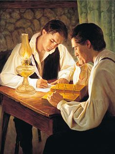 The historical record clarifies how Joseph Smith fulfilled his role as a seer and translated the Book of Mormon. - Joseph Smith Translating the Book of Mormon