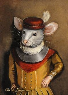 "Mouse art - ""Samuel the Brave"" - ACEO LE"