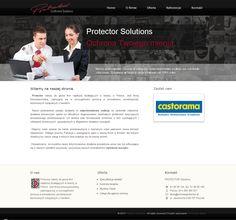 Projekt strony internetowej www.ochronaprotector.pl