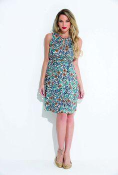 vestidos para gestantes com estampa floral