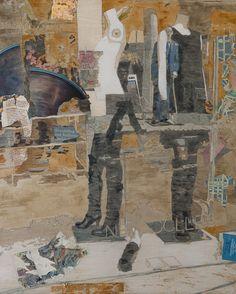 "Deborah Nicholson. Udveksling - Exchange  from Denmark Exhibition 2011   24"" x 30"" mixed media on panel   Artwork: figurative painting  SOLD"