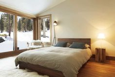 Awesome Idee Deco Chambre Blanc Et Taupe that you must know, You?re in good company if you?re looking for Idee Deco Chambre Blanc Et Taupe Large Floor Lamp, Modern Floor Lamps, Scandinavian Bedroom Decor, Scandinavian Design, Modern Wooden Bed, Deco Cool, Wooden Bed Frames, Stylish Bedroom, Bedroom Modern