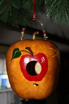 Artful Bird Critter Cottage Gourd by GeralynChouinard on Etsy, $35.00
