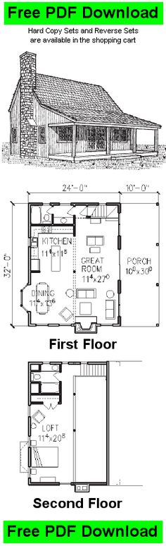 Free Cabin Plan and Blueprint - Classic Cabin 3 Plans - C156