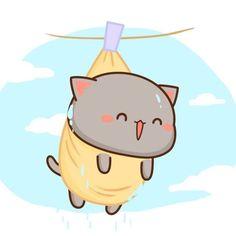 Save = Follow me 💕 Nhi Handsome 🌸 Cute Kawaii Animals, Kawaii Cat, Chibi Cat, Cute Chibi, Cute Love Gif, Cute Cat Gif, Cute Bear Drawings, Kawaii Drawings, Cute Images