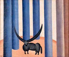 bull in the forest(1928) - Oil on Canvas - Tarsila do Amaral.