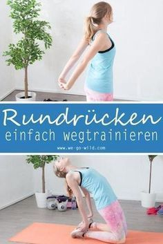 17 Übungen gegen Rundrücken - effektives Hyperkyphose Workout Do you have enough of your round back? Then start with exercises against hunchbacks! A hunchback is not nice and comes from sitting too lo Planet Fitness Workout, Fitness Workouts, Fitness Herausforderungen, Fun Workouts, At Home Workouts, Mens Fitness, Ladies Fitness, Do Exercise, Excercise