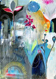 Anahata katkin - alena henessy- flora bowley collab painting