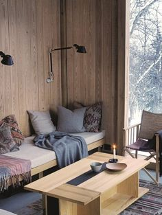 A Cozy Winter Cabin in Norway from Design Files Winter Cabin, Cozy Cabin, Cozy Winter, Norway Winter, Interior Inspiration, Room Inspiration, Farmhouse Side Table, Cabin Interiors, Living Spaces