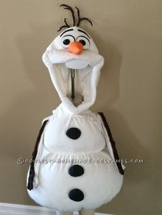 Coolest Homemade Toddler Olaf Snowman Costume                                                                                                                                                                                 More