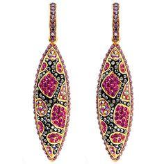 Butler & Wilson Crystal Cone Drop Earrings.