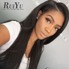 66.96$  Buy now - http://alij1h.worldwells.pw/go.php?t=32614043016 - 7A Malaysian Virgin Straight Lace Front Human Hair Wigs For Black Women Full Lace Human Hair Wigs With Baby Hair Lace Front Wig