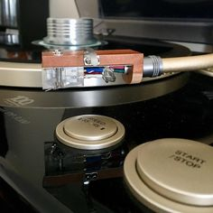 enon DP-A100 With Denon DL - A100 Cartridge With Analogue Studio Cherry Wood Headshel