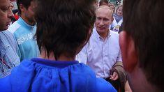 Путин лапает избирательниц! / Epic! Putin paws women voters!, via YouTube.