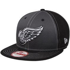 NHL New Era Detroit Red Wings Snappin Pop Adjustable Snapback Hat - Black/Charcoal (Medium/Large) by New Era. $27.95. New Era Detroit Red Wings Snappin Pop Adjustable Snapback Hat - Black/CharcoalAdjustable plastic snap strapStructured fitImportedSix panels with eyelets100% CottonContrast color panelsQuality embroideryFlat billOfficially licensed NHL product100% CottonStructured fitAdjustable plastic snap strapFlat billQuality embroideryContrast color panelsSix pa...