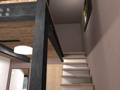 Ložnice s pracovnou a se zvýšeným spaním. Olomouc   očkodesign Stairs, Projects, Home Decor, Log Projects, Stairway, Blue Prints, Decoration Home, Room Decor, Staircases