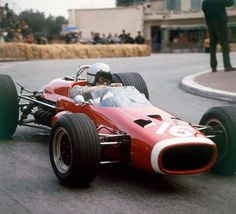 """ Bruce McLaren in his McLaren-BRM M4B at the 1967 Monaco """