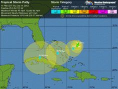 Tropical Storm Patty forms off east coast of Florida