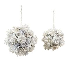 pine cone decorations | white pinecone christmas ornaments