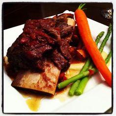 Braised beef short rib Beef Short Ribs, Braised Beef, Steak, Food, Beef Ribs, Meal, Essen, Steaks, Hoods